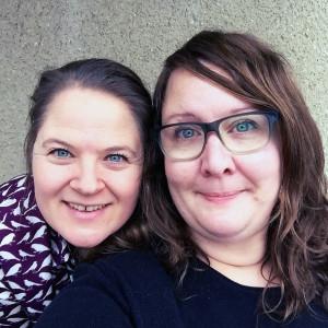Frida Arnqvist Engström och Erika Åberg